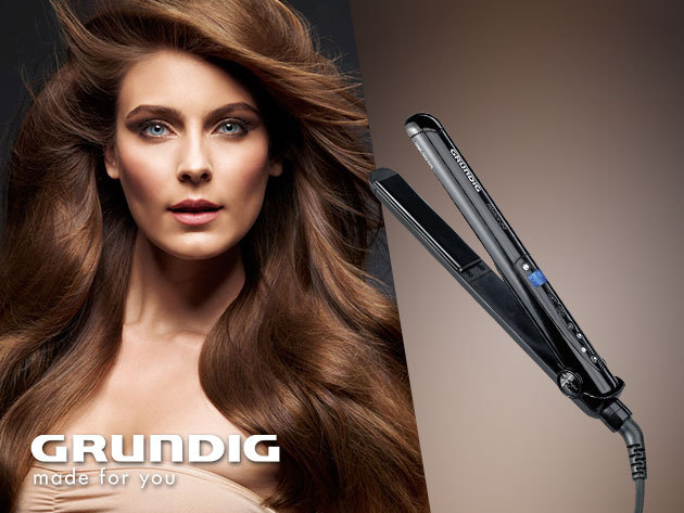 Grundig Crystal kerámia bevonatos hajvasaló a hibátlan frizuráért