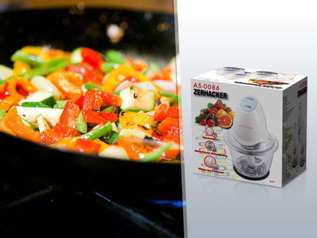 Zerhacker aprítógép rozsdamentes acél késsel - húsok, zöldségek, magvak stb. aprítására