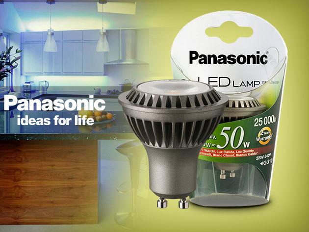 Energiatakarékos Panasonic GU10 LED 7W-os izzó, 50W-os halogén spot kiváltására