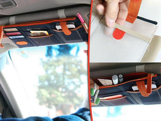 Napellenző rendező – praktikus, zsebes tárolóhely az autódba