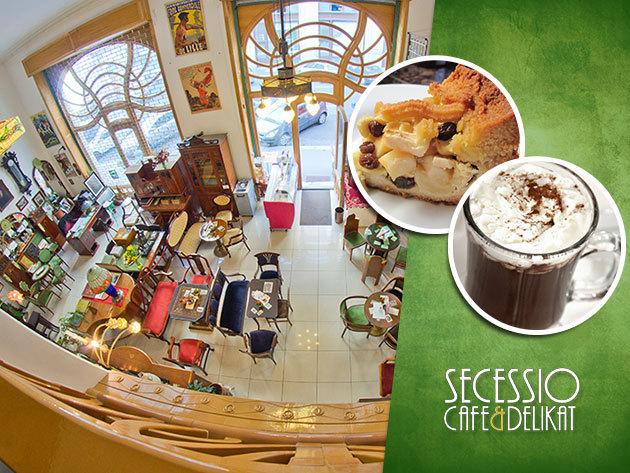 Belépő a Szecessziós Múzeumba + választható kávé vagy forró csoki + házi sütemény 2 fő részére, a Szabadság térnél