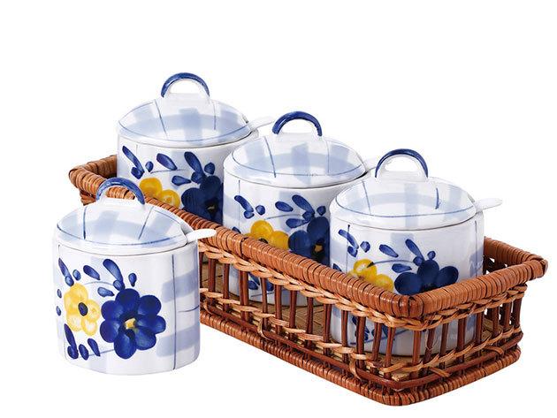 13 részes porcelán fűszertartó szett - KH-11130001