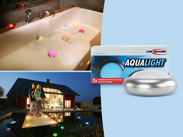 Ansmann Aqua Light - 2 db színváltós vízálló LED lámpa, 3 év garanciával