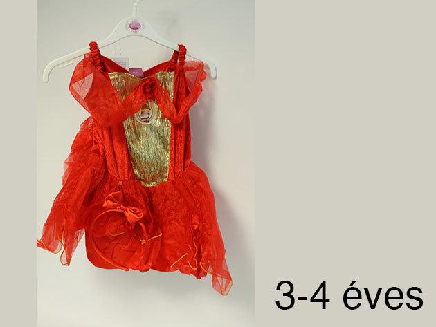 Belle - piros színű jelmez (3-4 éveseknek)