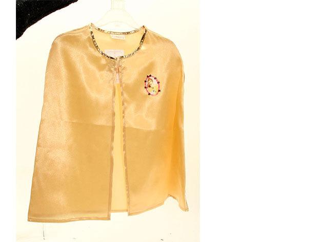 Belle - arany színű palást (3-6 éveseknek)