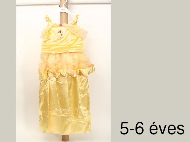 Belle - arany színű jelmez (5-6 éveseknek)