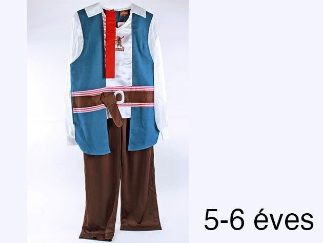 Jack Sparrow jelmez (5-6 éveseknek)