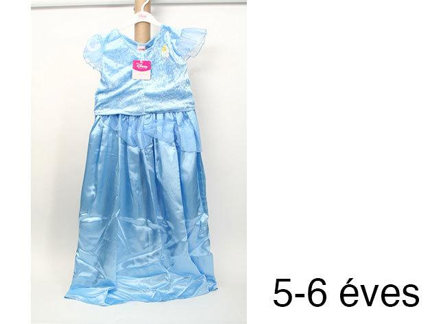 Hamupipőke - kék színű szatén ruha (5-6 éveseknek)