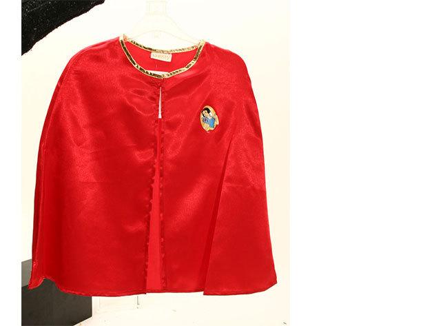 Hófehérke - piros színű szatén palást (3-6 éveseknek)