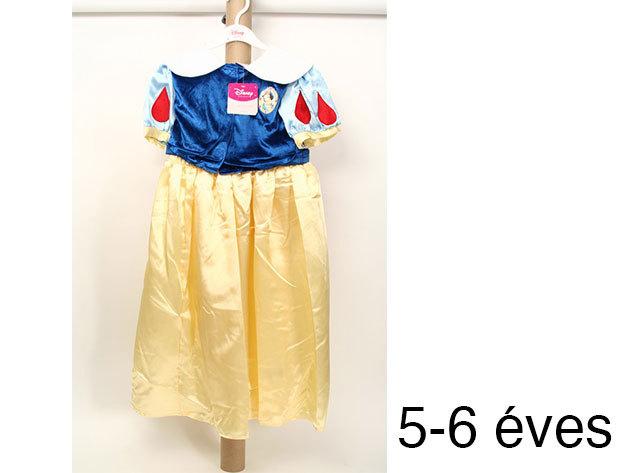 Hófehérke - kék és arany színű szatén ruha (5-6 éveseknek)