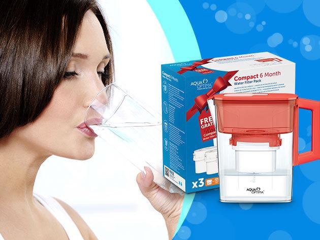 Önts tiszta vizet a pohárba! Hauser Aqua Optima vizszűrős kancsó + 3 db filter