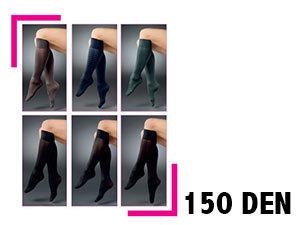 150 den-es vastag szálú térdfix – 5pár/csomag - FEKETE szín