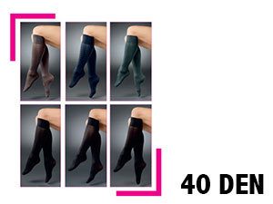 40 den-es vastag szálú térdfix - 5pár/csomag - KONYAK szín