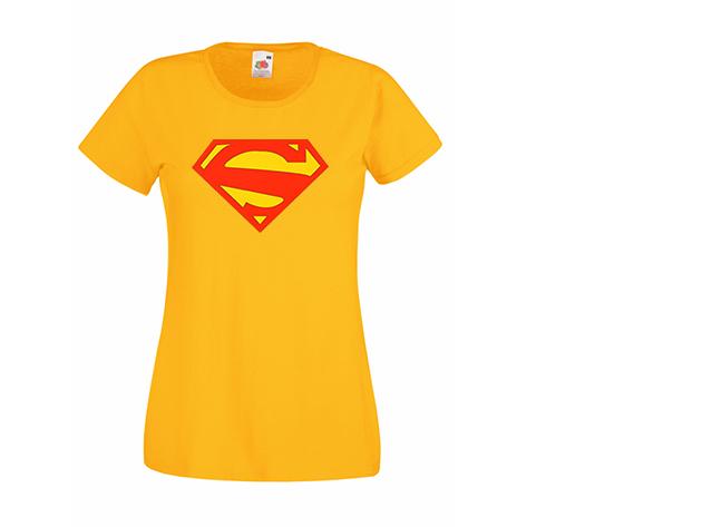 Superwoman póló - napsárga