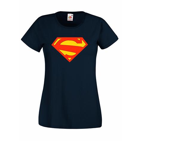 Superwoman póló - sötétkék