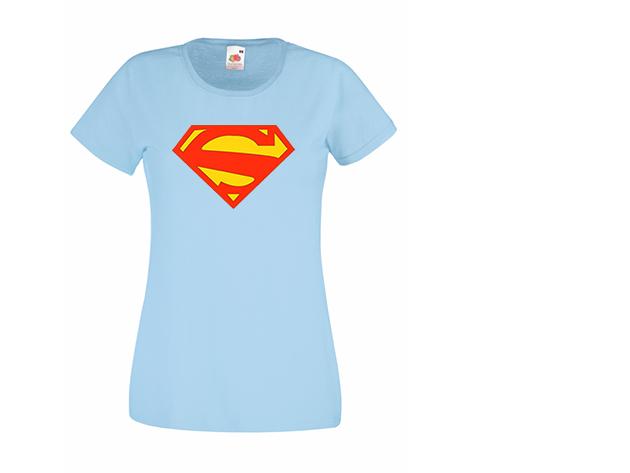 Superwoman póló - világoskék