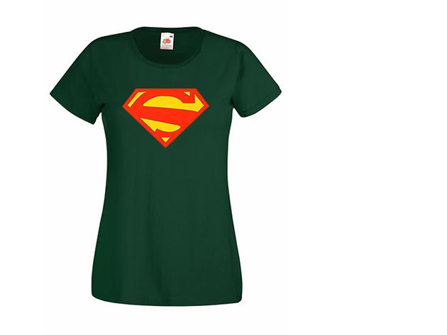 Superwoman póló - sötétzöld