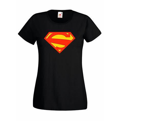 Superwoman póló - fekete