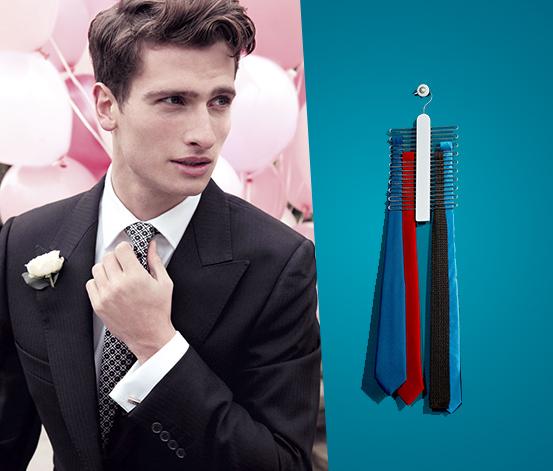 Praktikus nyakkendőtartó 20 db nyakkendő minőségi tárolásához