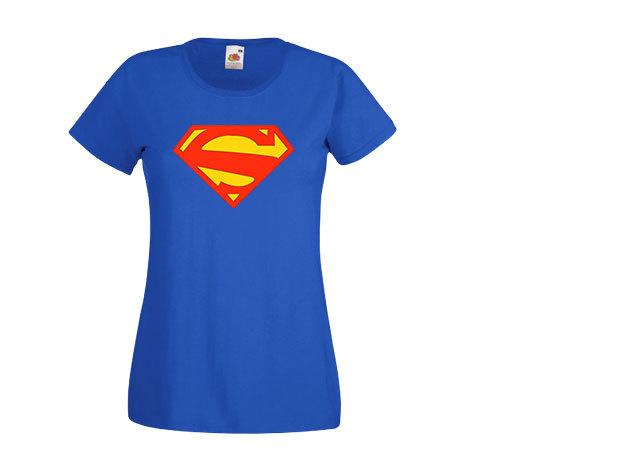 Superwoman póló - kék