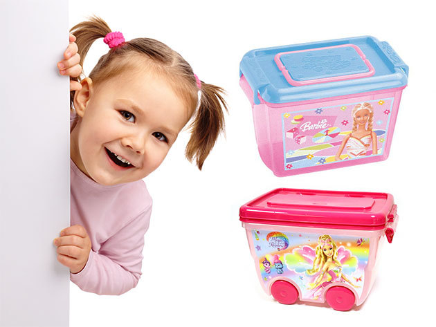 Barbie és Princess játéktároló dobozok több méretben - Hogy öröm legyen a rendrakás!