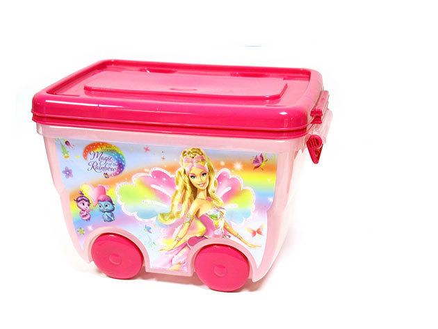 Barbies nagy, kerekes tároló doboz (30x55x35 cm - 25 liter)