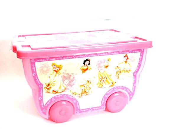 Princess nagy, kerekes tároló doboz (35x42x28 cm - 60 liter)