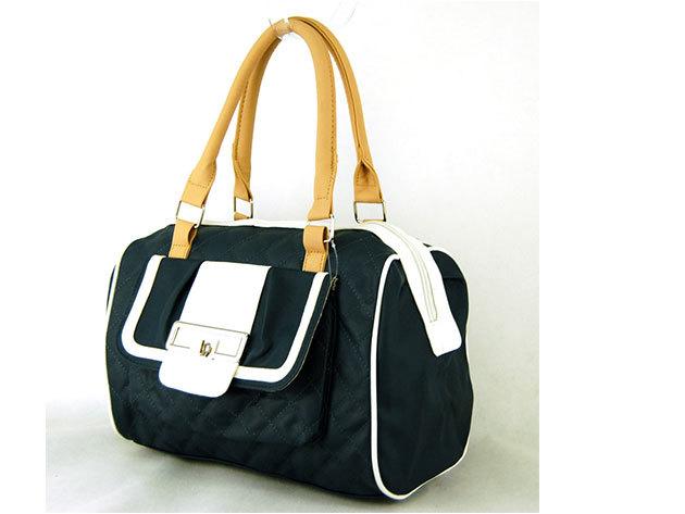Női steppelt táska / Nicole - sötétkék