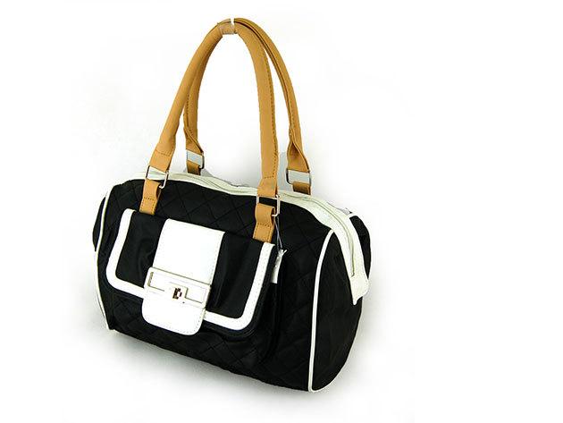 Női steppelt táska / Nicole - fekete