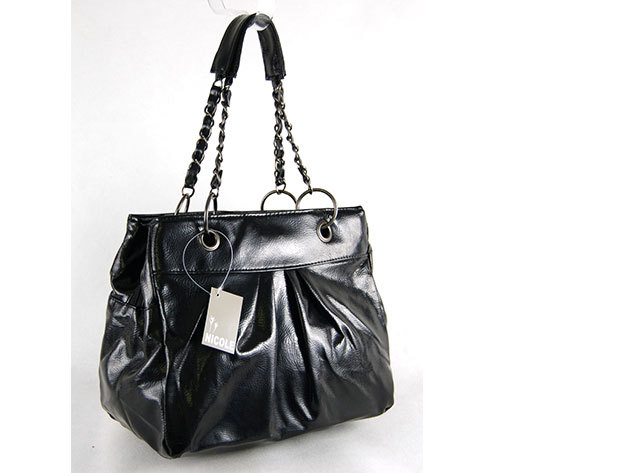 Láncos táska /Nicole - fekete