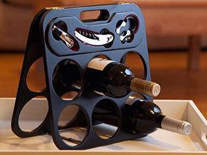 Borosüveg tartó állvány kiegészítőkkel