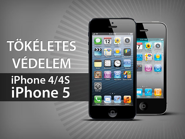iPhone 4 és 5 - Extra védelem: Védőtok + képernyővédő fólia + csatlakozó védődugó