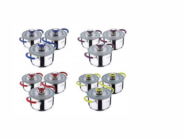 8 részes BLAUMANN Colorant Line rozsdamentes acél edénykészlet (BL-1438)