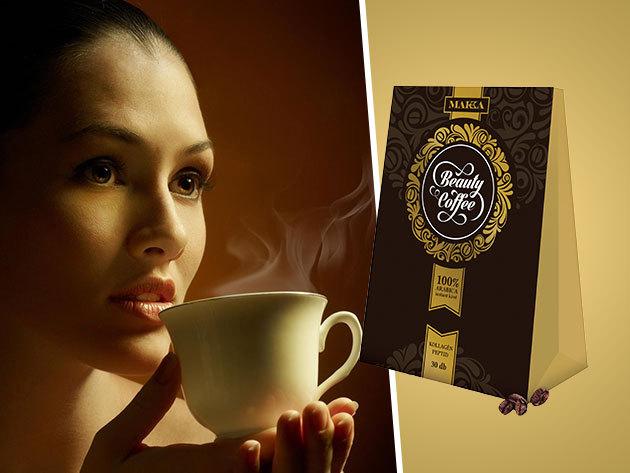 Beauty Coffee - kollagén peptidet tartalmazó instant arabica kávé a nők szépségéért