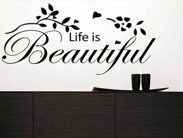 Life is beautiful - 30x61 cm