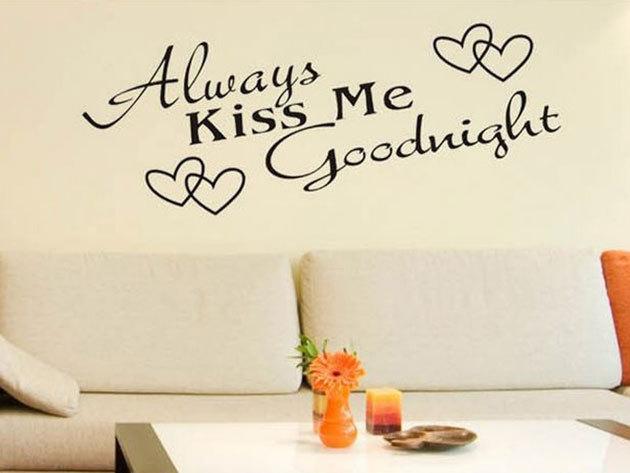 Always kiss me goodnight 26x58cm