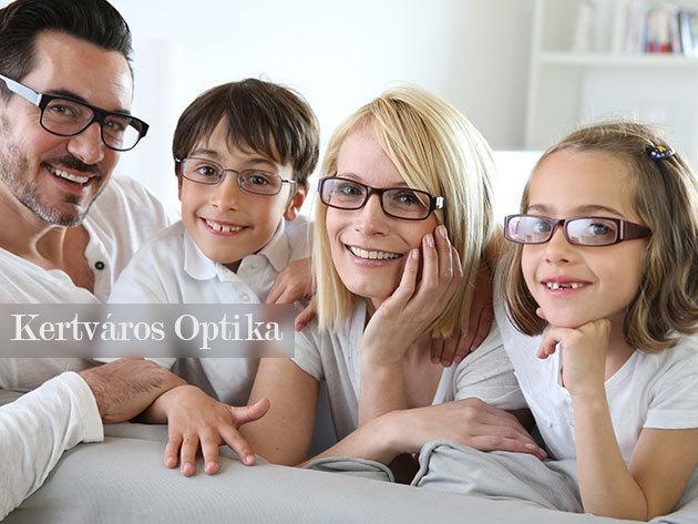 Komplett szemüveg minden korosztálynak: látásvizsgálat, választható műanyag vagy fém keret, HMC+ rétegű lencse!