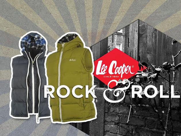 Lee Cooper - Férfi mellények fekete, sötétkék és lime színben!