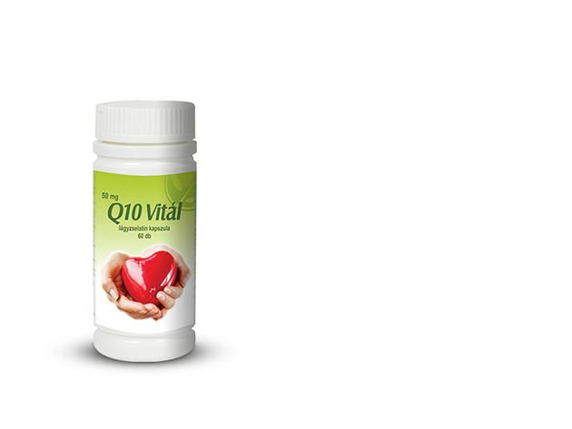Q10 Vitál a szív egészségéért - 42,6 g (60 db 710 mg-os lágyzselatin kapszula)