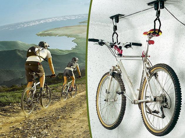 Kerékpár lift 20 kg-os teherbírással lakásba, garázsba - gyors, helytakarékos megoldás a bringád tárolására