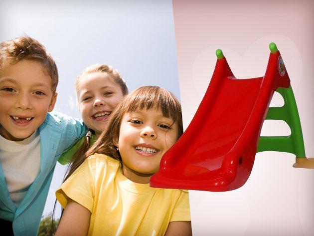 Létrás gyerek csúszda sárga és piros színben - a felhőtlen mókáért