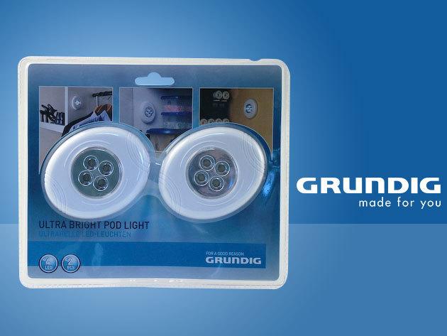 2 db Grundig nyomásérzékelős LED lámpa - szinte bárhová rögzítheted