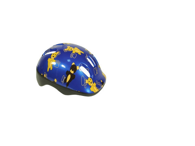 Kék színű kerékpáros bukósisak fiúknak (52-54 cm-es méret)