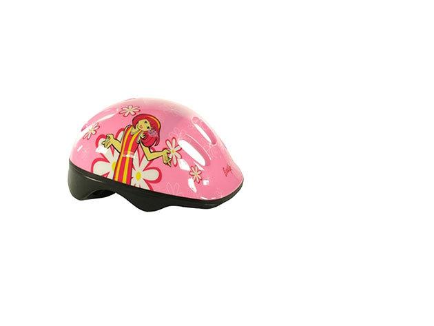 Rózsaszín kerékpáros bukósisak lányoknak (M-es méret)