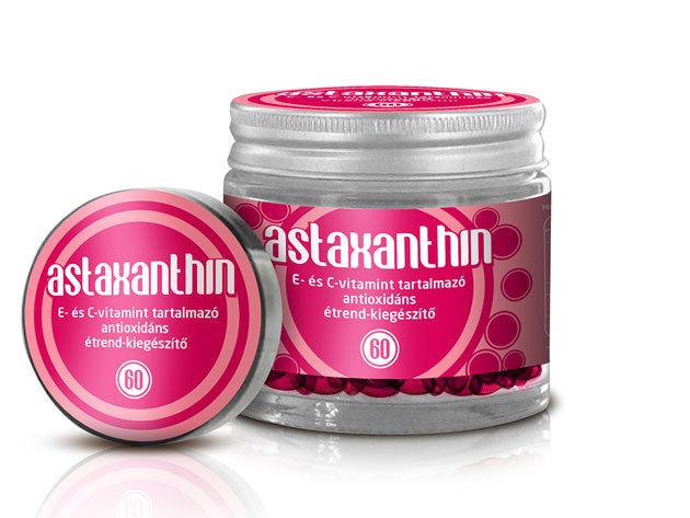Astaxanthin (60 db kapszula) multifunkcionális antioxidáns, E és C vitamin