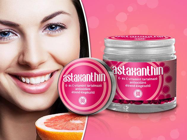 Astaxanthin - Szépség és egészség egyben, multifunkcionális antioxidáns, E és C vitamin