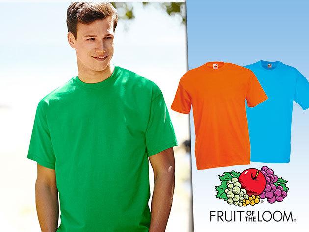 3 db 100% pamut Fruit of the Loom férfi póló - Öltözz a kedvenc színeidbe idén tavasszal!