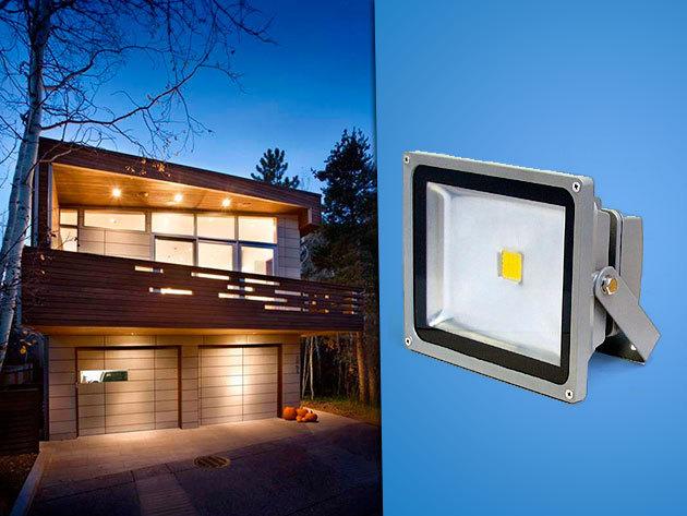 10 és 20 Wattos kültéri energiatakarékos LED reflektorok - közterületek, kertek, épületek megvilágítására, fél év garanciával!