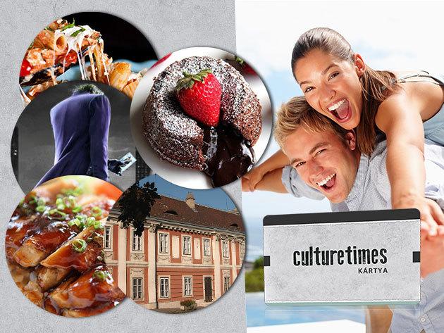 6 hónapos culturetimes kártya - étkezz Budapest kiváló éttermeiben fél áron és kulturálódj kedvezményesen!