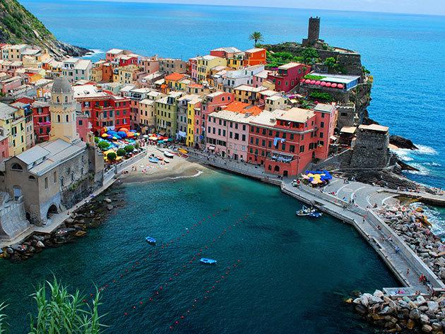 Körutazás a Cinque Terre legszebb falvaiban, a Ligúr partokon - 1 fő részére, 7nap/6 éj (2014.május 18 - 24)